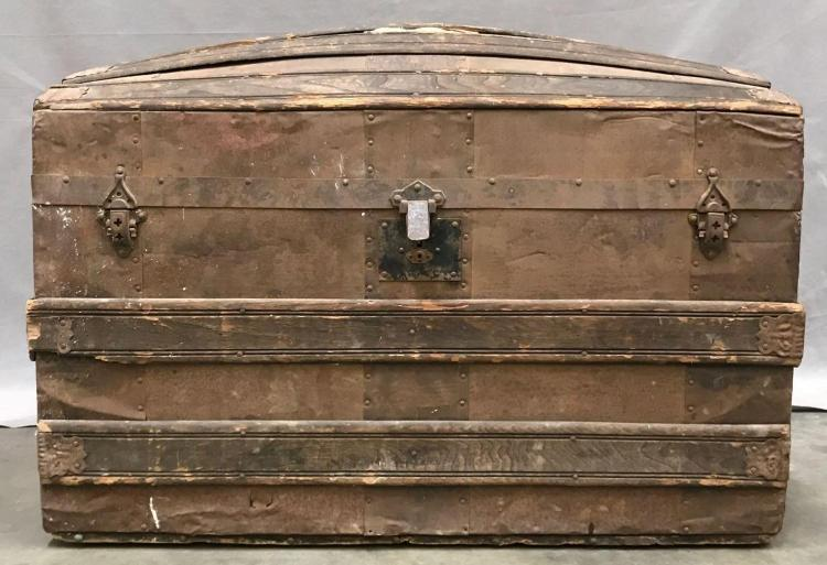 Turn of the century dome travel trunk