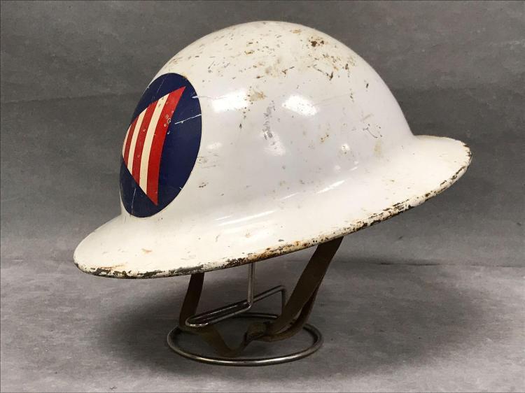 Vintage City of San Francisco Civil defense helmet