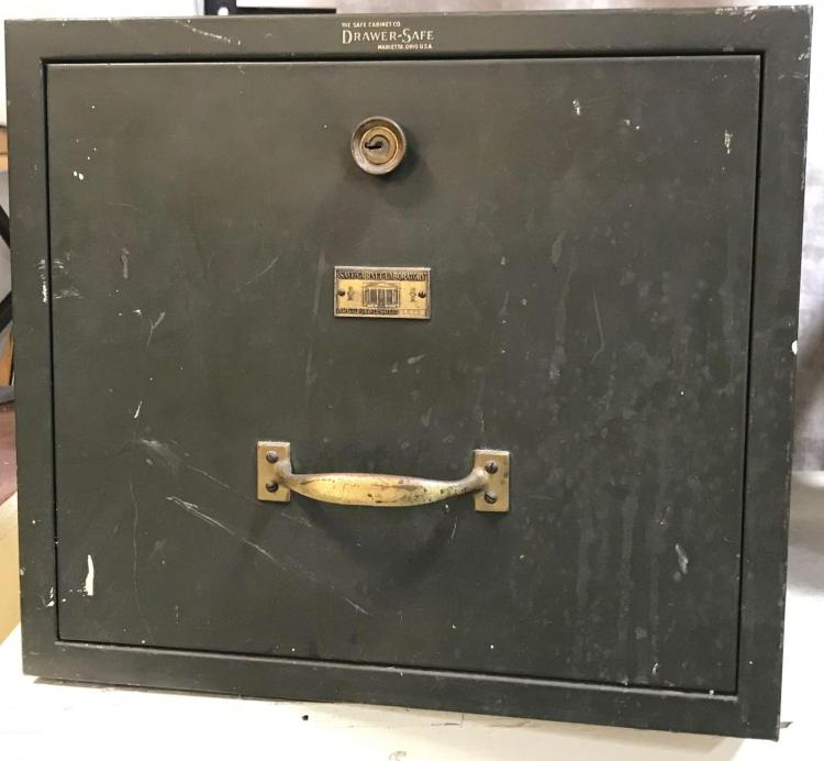 1920s Drawer safe made by The Safe Cabinet Co. Marietta, Ohio