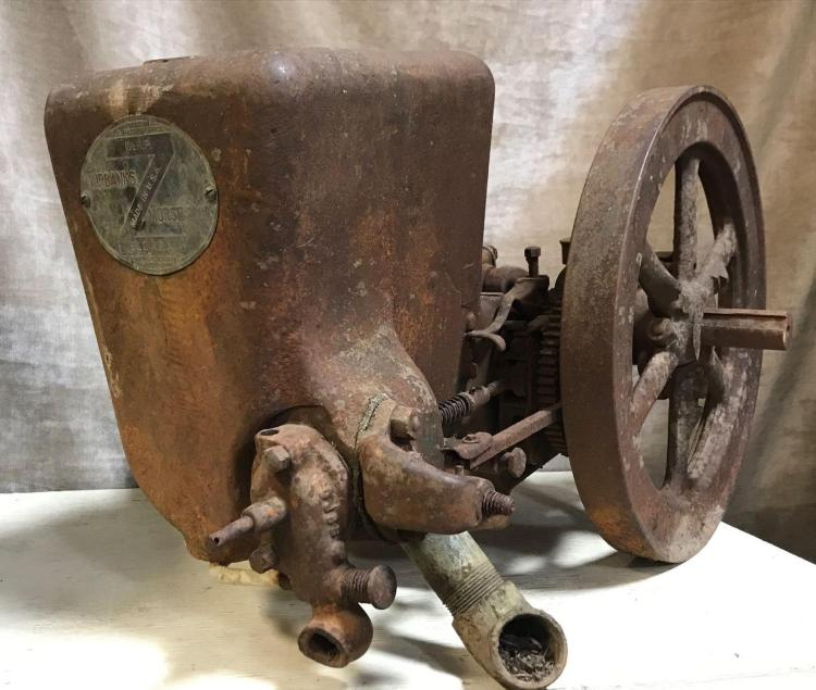 Cast Iron Fairbanks Morse and Co. 1 1/2 horse power 500 RPM engine