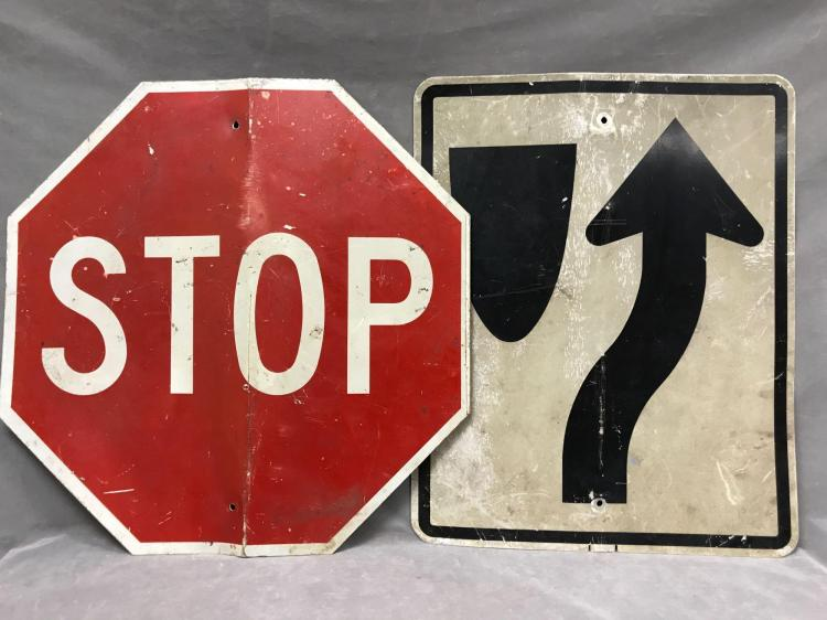 Two vintage  roadsigns