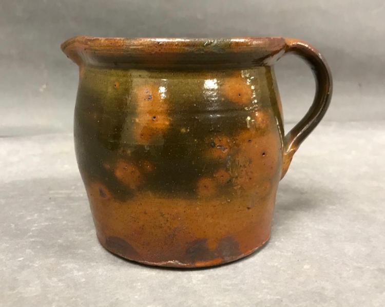 Antique salt glazed syrup pitcher