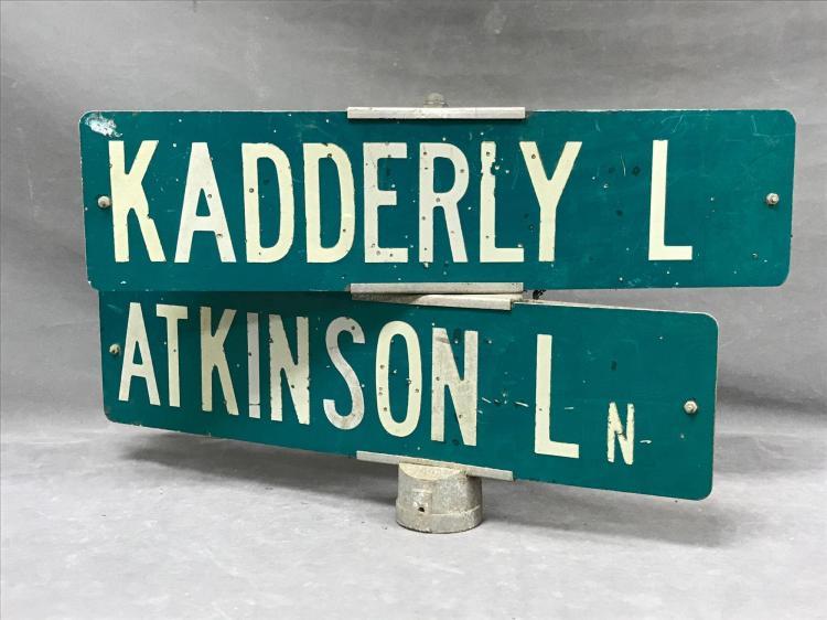 Vintage Santa Cruz county street sign