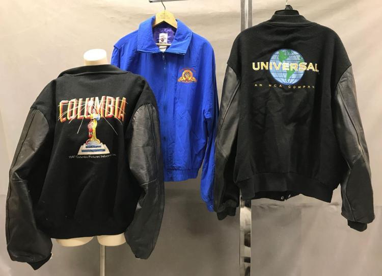 3 Columbia, Universal and MGM Studio employee jackets