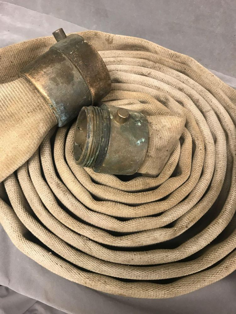 2 Vintage American Rubber Mfg. Co. Fire hoses of Oakland Ca