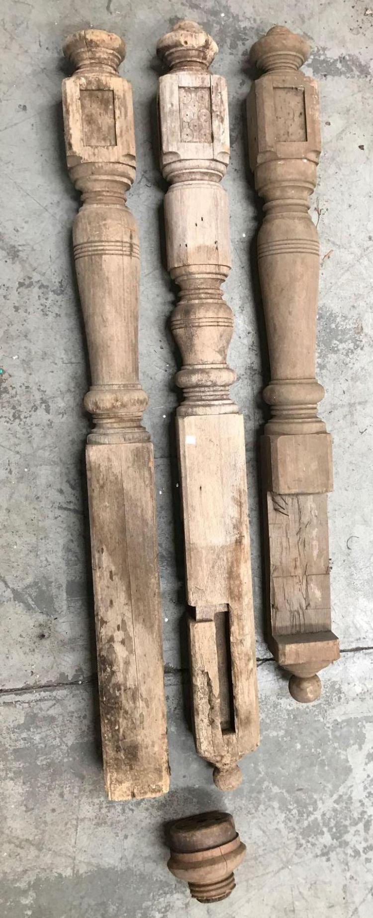 4 Antique wooden architectural pieces