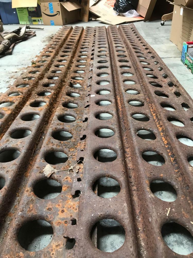 Two World War II interlocking mud tracks