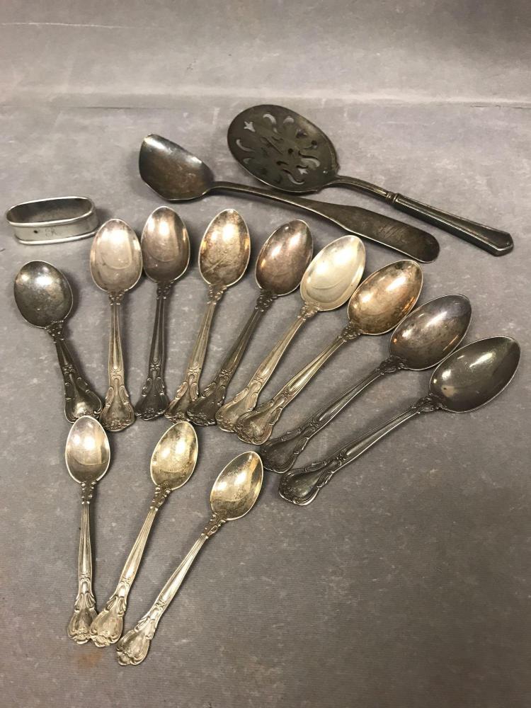 15 piece sterling silver lot