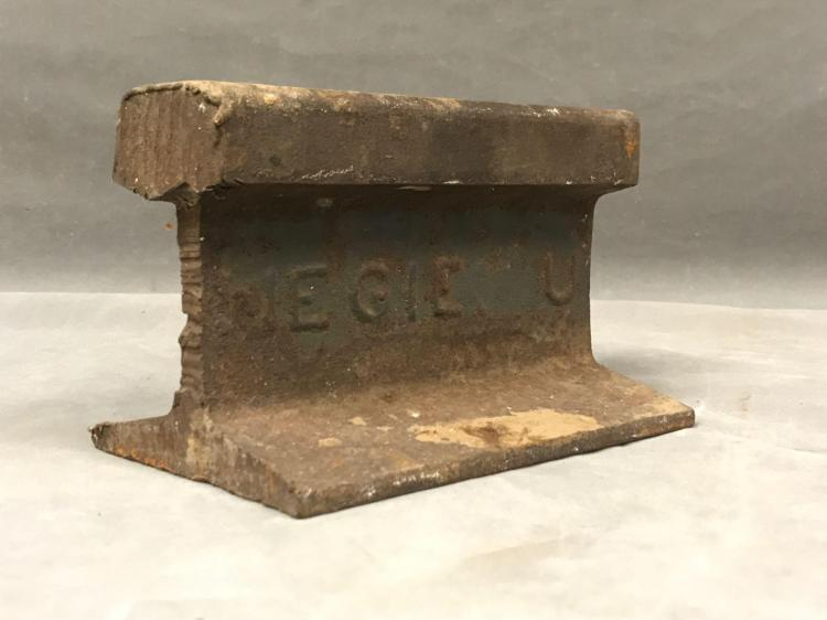 Antique rail road track anvil
