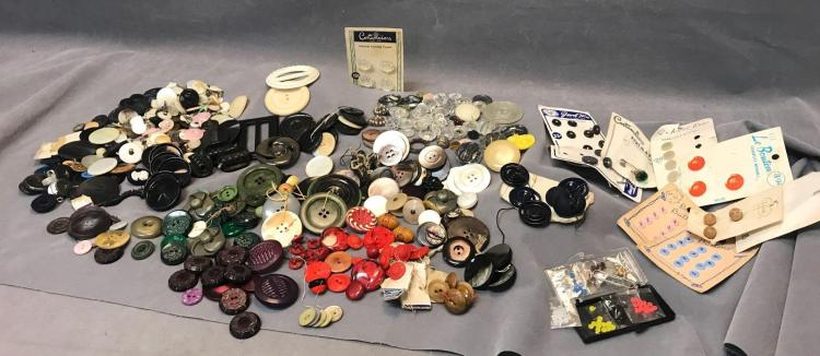 HUGE vintage and antique button collection