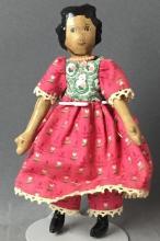 Littlle Hitty doll dark skin girl pink and white heart dress