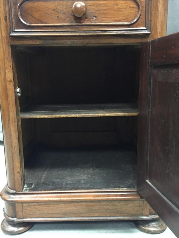 vintage cabinet two antique walnut cabinet w glass door and carv 27968