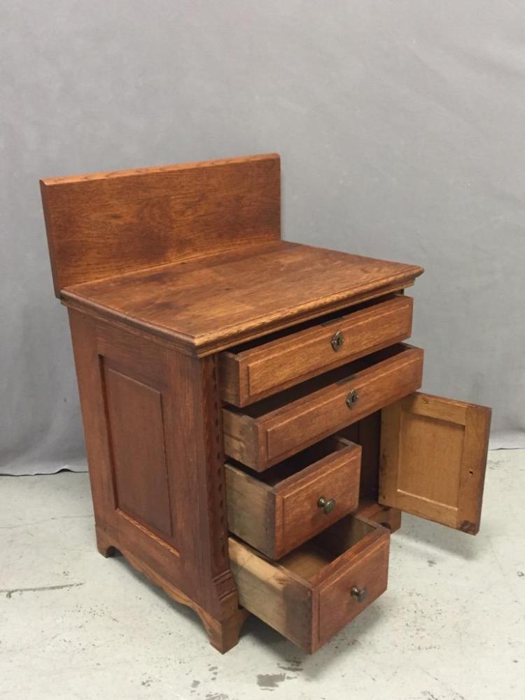 Antique oak child 39 s dresser for 12 inch depth dresser