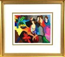 Abstract Modernist Serigraph,