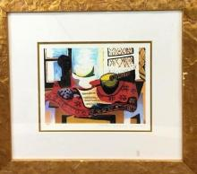 Greco Modernist Lithograph of still life, marked & numbered by