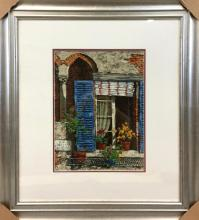 Giclee on Canvas of Italian still life, signed,