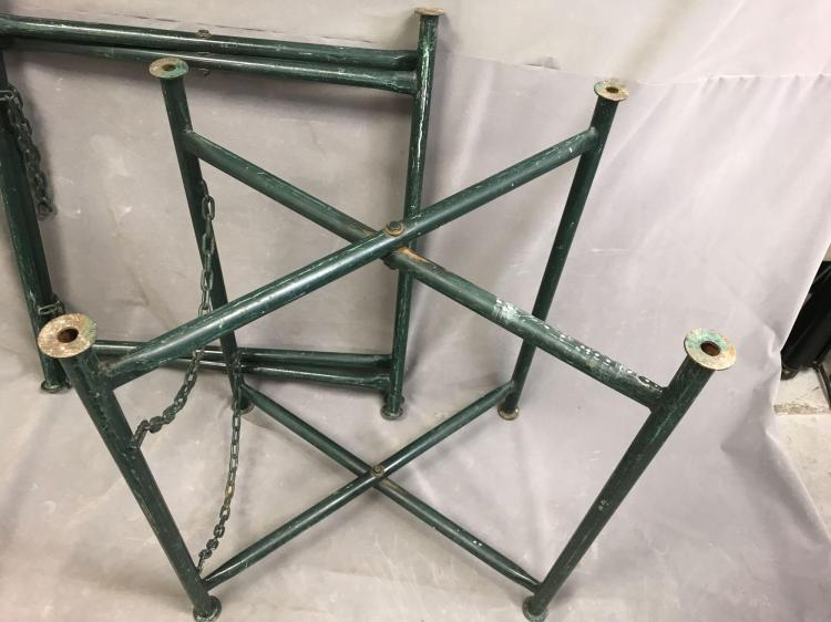 Pair of sturdy folding metal table bases for How to make a sturdy table base