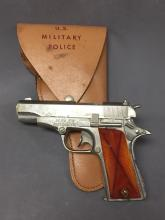 Hubley Automatic toy pistol w/U.S. Military Police holster