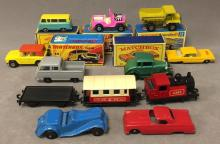 Lot of (15) loose & boxed Matchbox, & Tootsietoy cars
