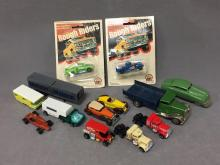 Lot of 13 Vintage toy cars; Matchbox, Schuco, Hotwheels
