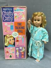 Vintage 1960s Mattel Chatty Cathy doll, w/ box & shoes