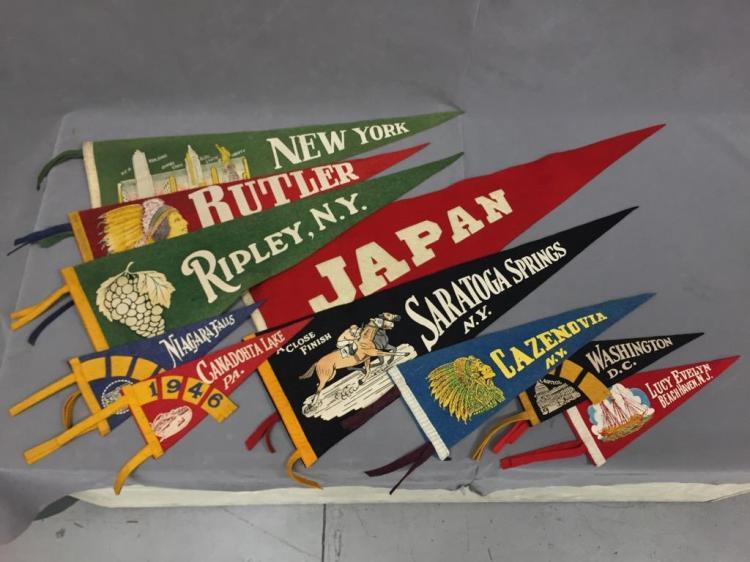 (10) Vintage pennant flags. Japan