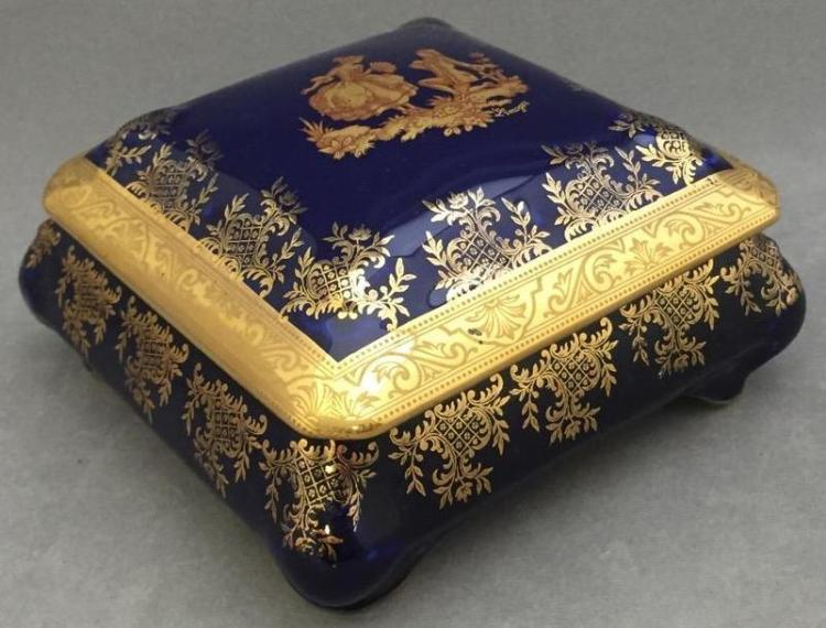 Limoges France gilded porcelain box