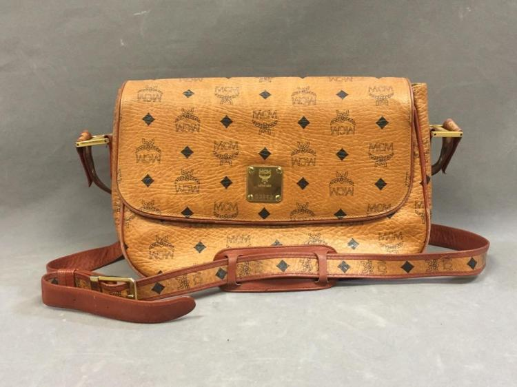 MCM German leather cross-body bag