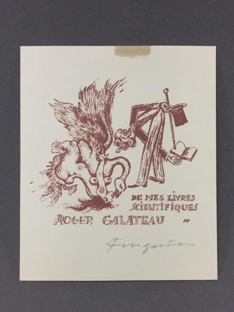 Signed Ex Libris print by Michael Fingesten