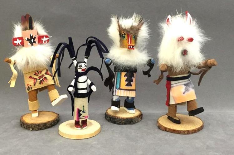 4 Native American Indian Kachina dolls