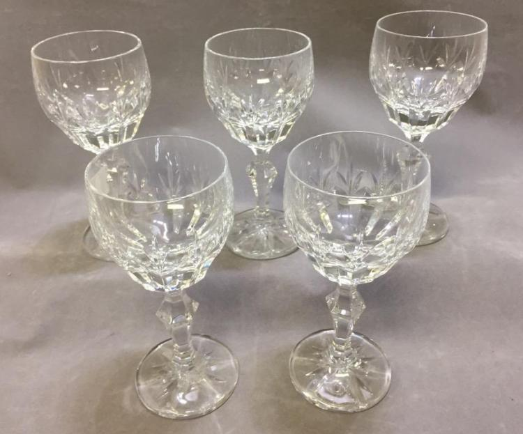 Lot of (5) Villeroy Boch crystal wine glasses