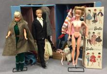 1960's Barbie and Ken doll set w/tons of accessories and Barbie