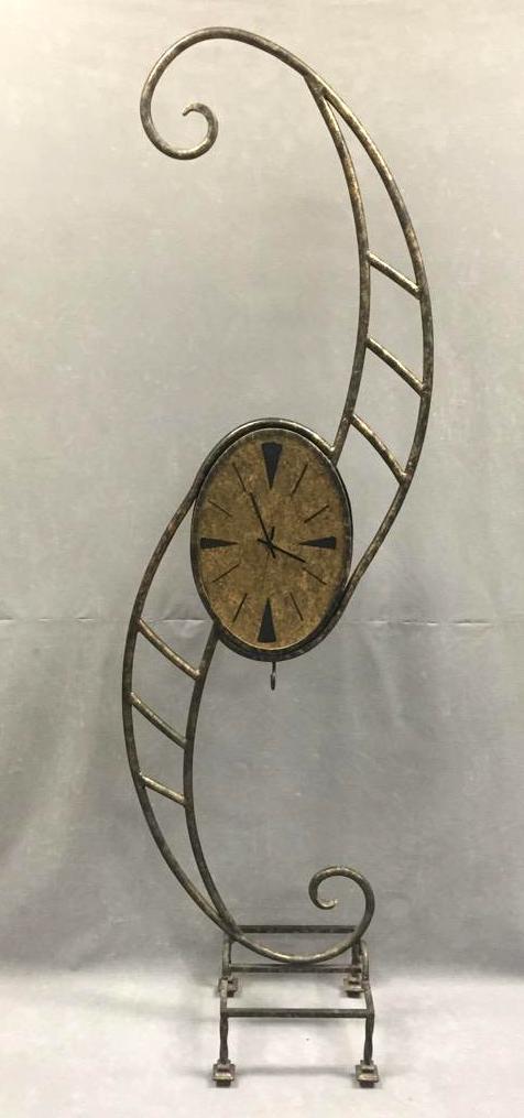 Whimsical Wonderland style metal clock