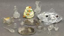 26 Dollhouse accessories including wedding cake