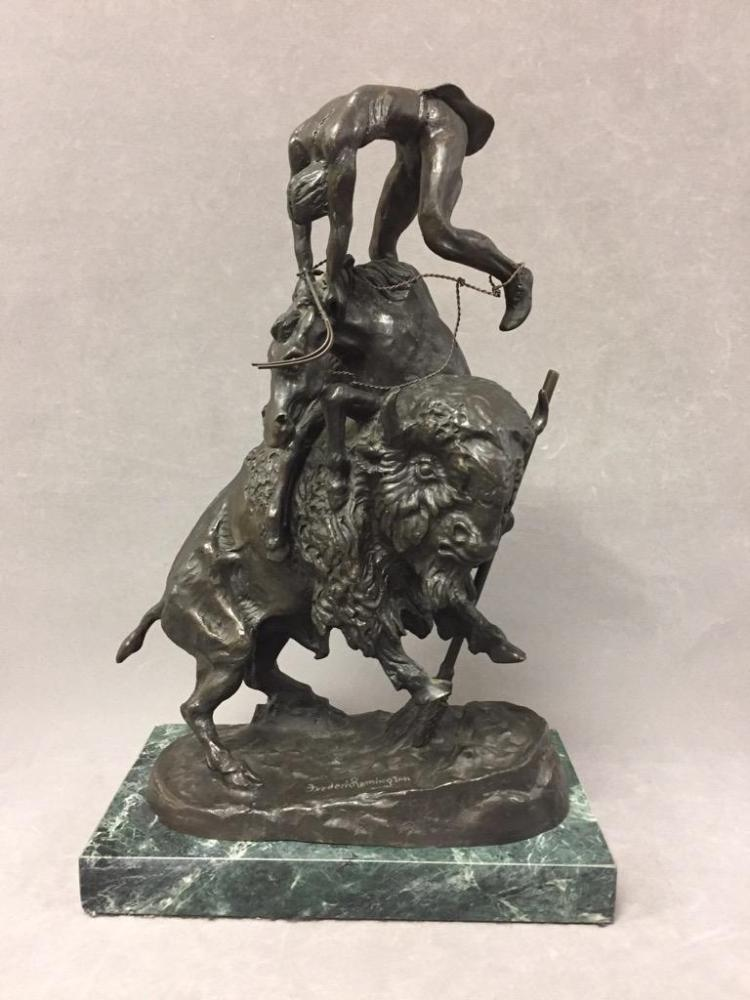 Bronze sculpture of Native American