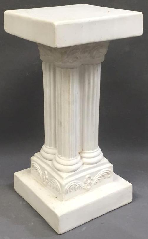 Plaster Roman style pedestal plant stand