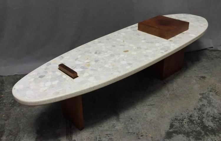 Unique Mid-Century beach style coffee table
