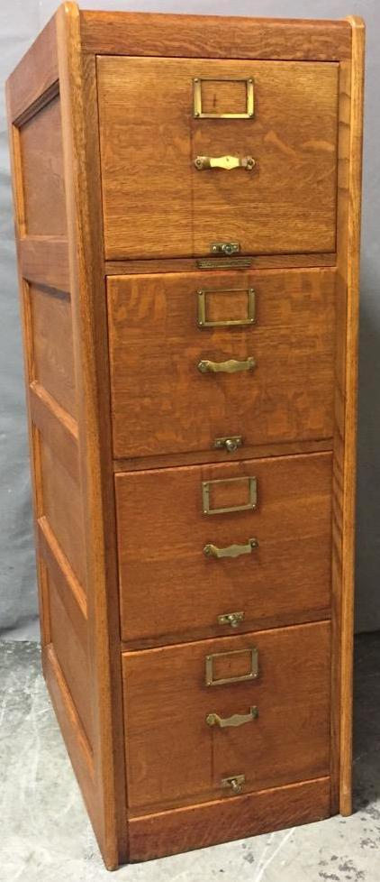Vintage oak library codex filing cabinet