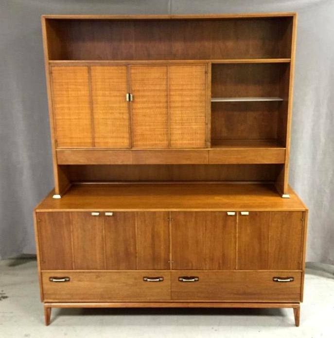 Large Mid-Century Modern side-board china cabinet