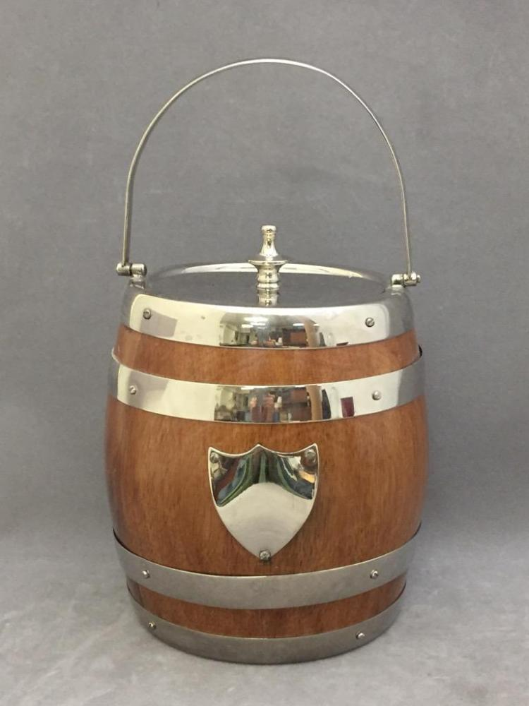 Mid Century barrel-shaped humidor