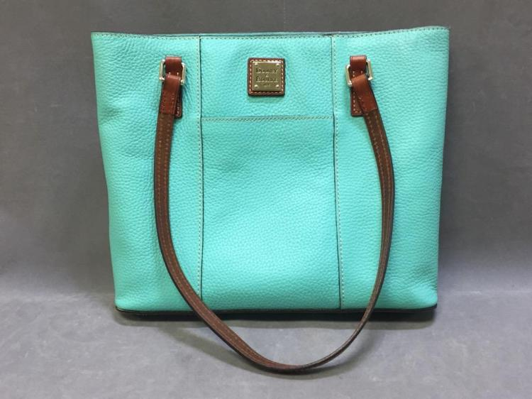 Dooney & Bourke turquoise colored leather shoulder bag