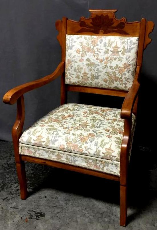 Antique armchair w/ hand-carved designs