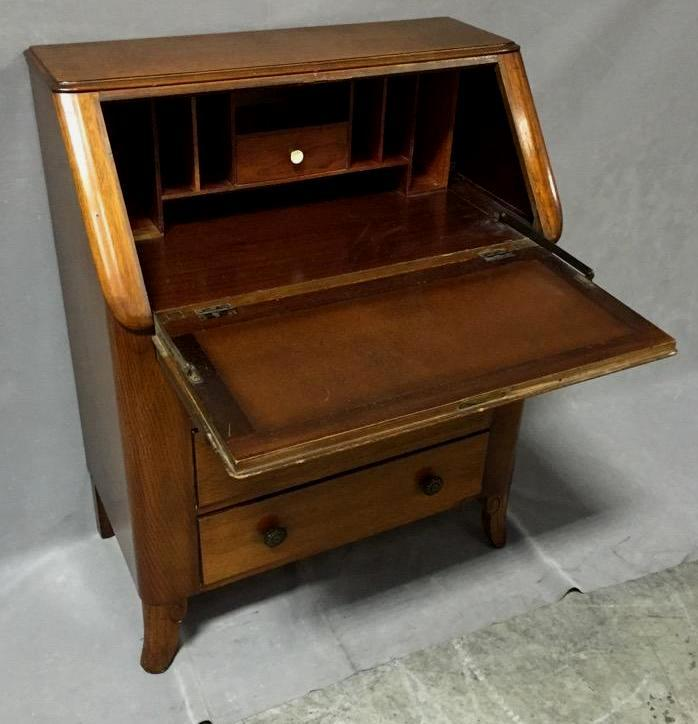 Beautiful Harris Lebus Art Deco secretary desk
