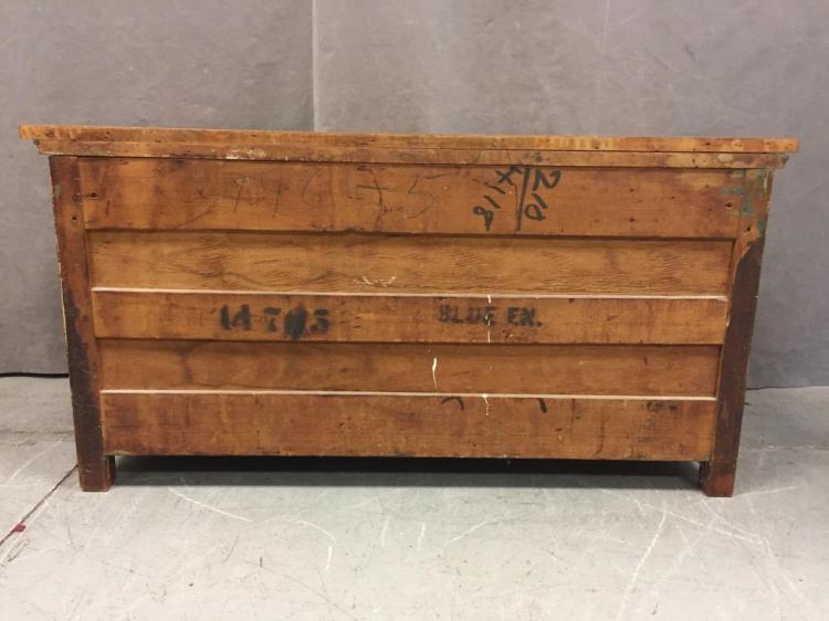 Older asian style walnut chest of drawers w brass hardware for Old asian furniture