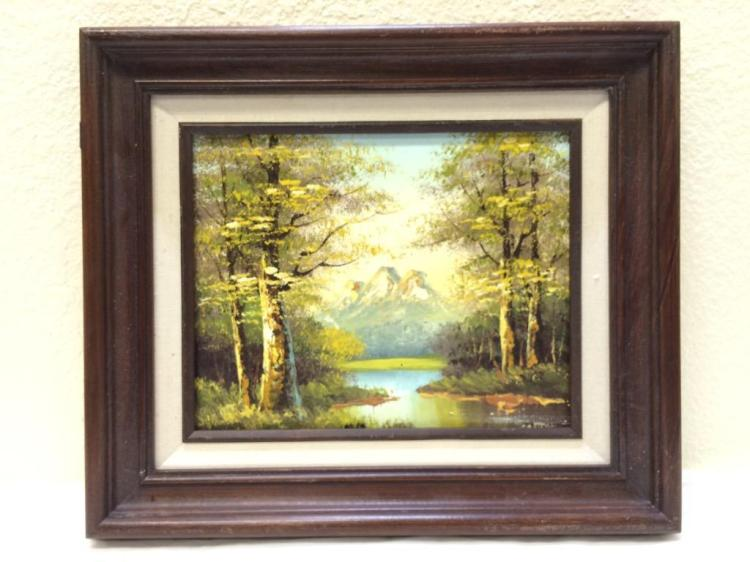 Oil painting on board, signed Philip Cantrell