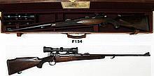 F154 - .244H&Hmag; Holland & Holland Rifle - Cased