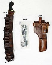 A37 - Mauser C96 Broomhandle Pistol Leather Holster