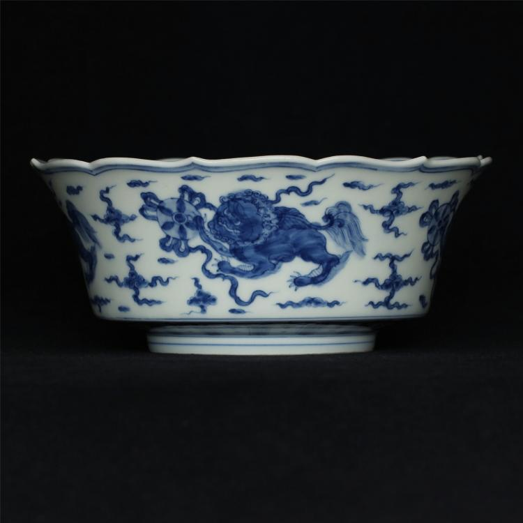 Blue and white porcelain bowl of Ming Dynasty ChengHua mark.