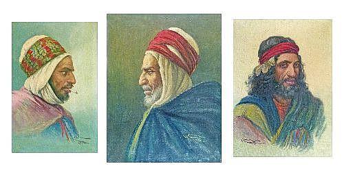 Enrique Marin (Spanish 1876-1940) - Three oils on canvas - S