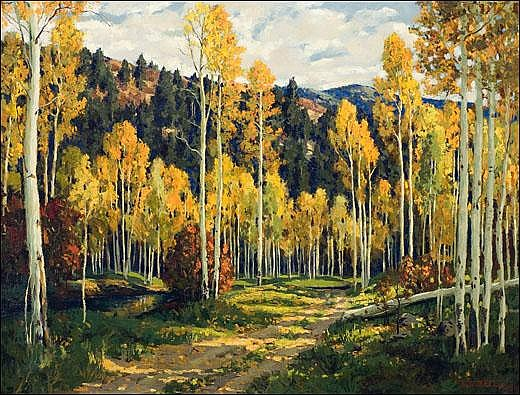 Ellis, Fremont: The Rd. Through the Aspens1925